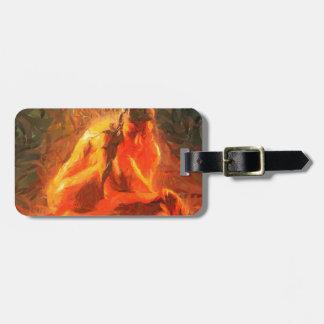 Mädchen auf Feuer - leidenschaftliche Feuer-Kunst Gepäckanhänger