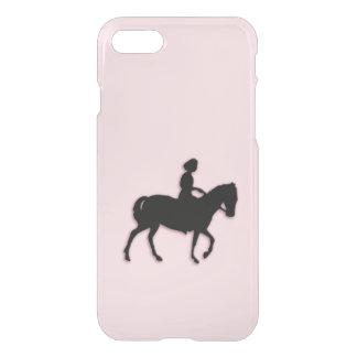 Mädchen auf Pferde-/Pony-Rosa iPhone 8/7 Hülle