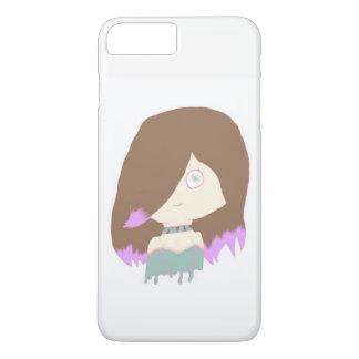 Mädchen auf Telefon-Kasten iPhone 8 Plus/7 Plus Hülle