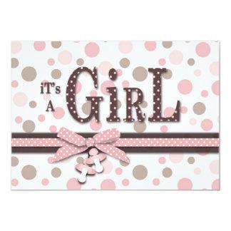 Mädchen-Babyparty-Einladung