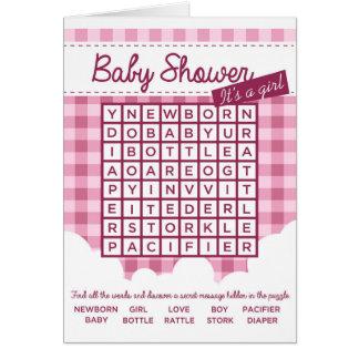Mädchen-Babypartypuzzlespiel Karte