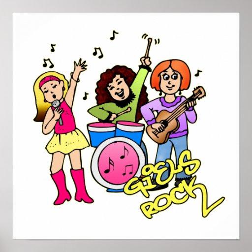 Mädchen-Band Posterdrucke