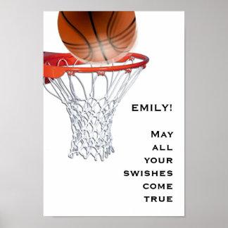 Mädchen-Basketball Poster