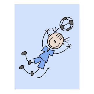 Mädchen-blauer Fußball-einheitliche T-Shirts und Postkarte