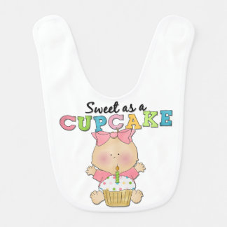 Mädchen-Bonbon als Kuchen-Schellfisch Babylätzchen