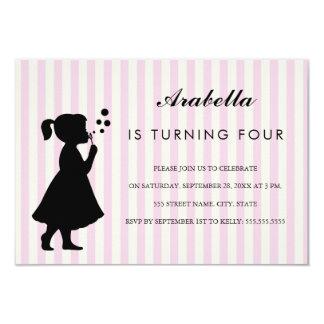 Mädchen, das bubbles  Geburtstags-Party Einladung