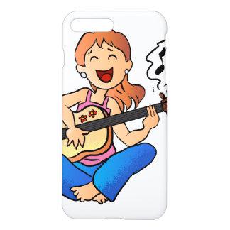 Mädchen, das Gitarre spielt iPhone 8 Plus/7 Plus Hülle