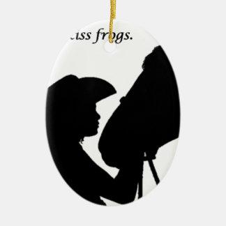Mädchen, das Pferd küsst Keramik Ornament