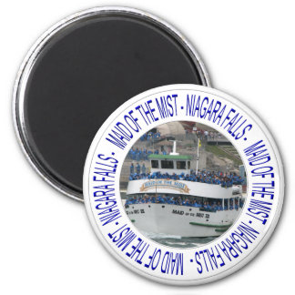 Mädchen des Nebels - Niagara Falls Runder Magnet 5,7 Cm