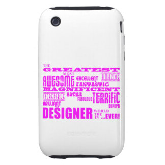 Mädchen-Designer-Geburtstage: Rosa bestster Design iPhone 3 Tough Cover