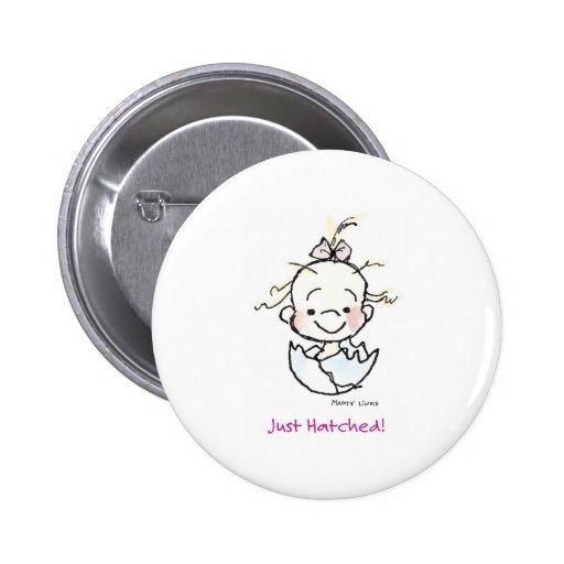 Mädchen-Ei des Geburtstags-BD-003 Button