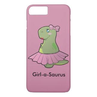 Mädchen-ein-Saurus Dinosaurier T-Rex iPhone 8 Plus/7 Plus Hülle