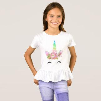 Mädchen-Einhorn-T-Shirt T-Shirt