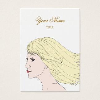 Mädchen elegant visitenkarte