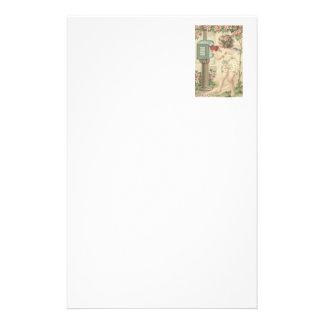 Mädchen-Engel-Herz-Amor-Briefkasten-Valentinsgruß Briefpapier
