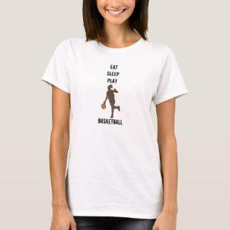 Mädchen essen Schlaf-Spiel-Basketball-T - Shirt