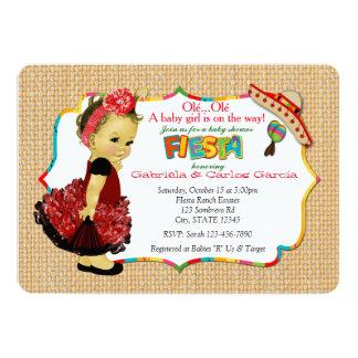 Mädchen-Fiesta-Baby-Duschen-Einladungs-Party 083 12,7 X 17,8 Cm Einladungskarte