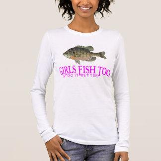 MÄDCHEN-FISCHE AUCH LANGARM T-Shirt