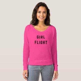 Mädchen-Flug Flowy langes Hülsen-T-Stück T-shirt