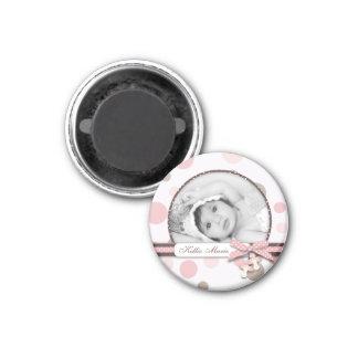 Mädchen-Foto-Magnet R Runder Magnet 2,5 Cm
