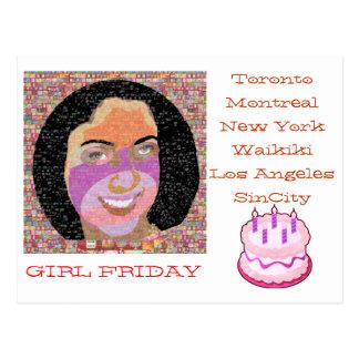 Mädchen FREITAG-Geschenke Postkarten