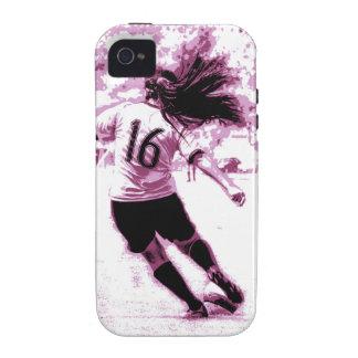 Mädchen-Fußball iPhone 4 Case