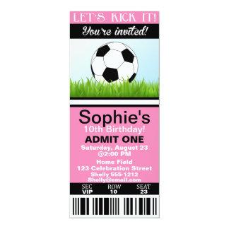 Mädchen-Fußball-Kartengeburtstagseinladung Karte
