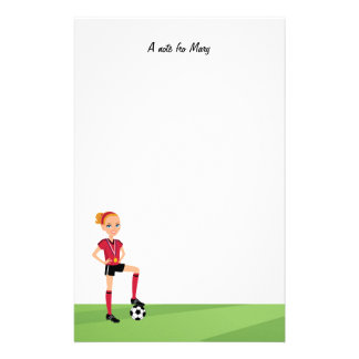 Mädchen-Fußball-Lager-Briefpapier Büropapiere