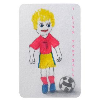 Mädchen-Fußballspieler Magnet