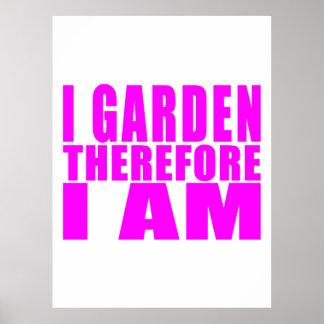 Mädchen-Gartenarbeit: Ich arbeite deshalb ich bin