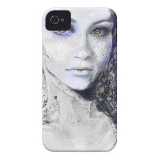 Mädchen-Gesicht mustert das Haar-Zeichnen Case-Mate iPhone 4 Hülle