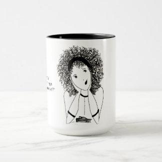 Mädchen-Gespräch Tasse