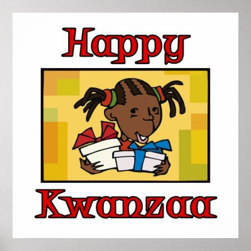 Mädchen glückliches Kwanzaa Plakat