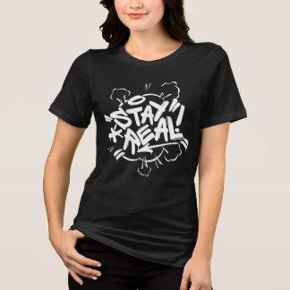 Mädchen-Graffiti: Aufenthalt wirkliches Streetwear T-Shirt