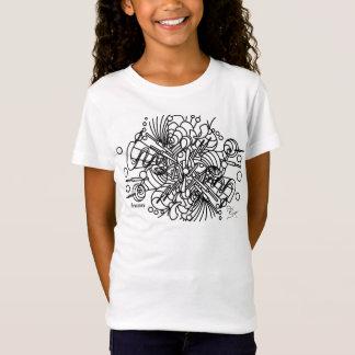 Mädchen-grundlegender T - Shirt mit Auftauchen EPD