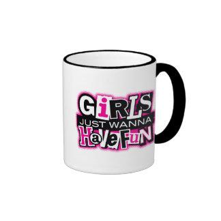 Mädchen haben Spaß Ringer Tasse