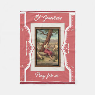 Mädchen-Heiliges St. Genevieve religiös Fleecedecke