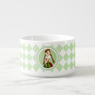 Mädchen im Dirndl Kleine Suppentasse