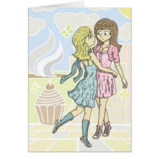 Mädchen im Pastell Karte