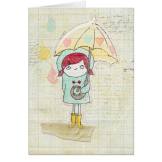 Mädchen im Regen Karte