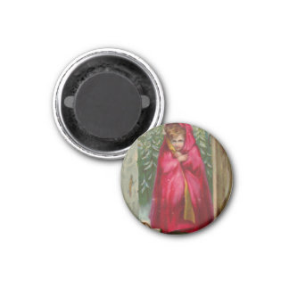 Mädchen im roten Kap Runder Magnet 3,2 Cm