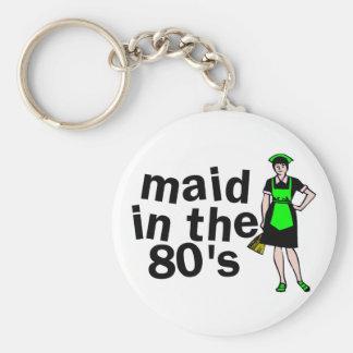 Mädchen in den achtziger Jahren Schlüsselanhänger
