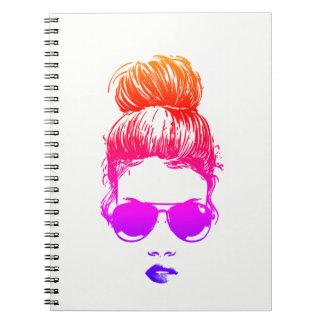 Mädchen in den Fliegern - das Notizbuch Spiral Notizblock