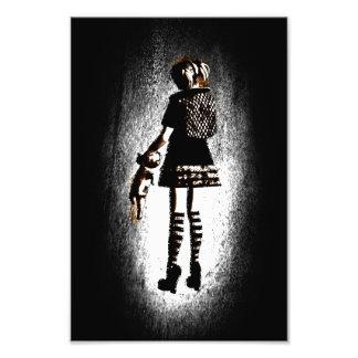 Mädchen in Goth Kunst Photo