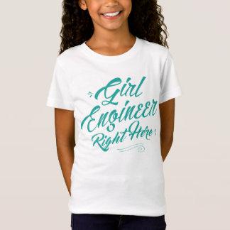 Mädchen-Ingenieur-nach rechts hier Mädchen T-Shirt