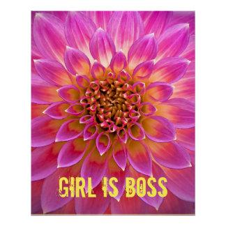 Mädchen ist Chef-Plakat Perfektes Poster