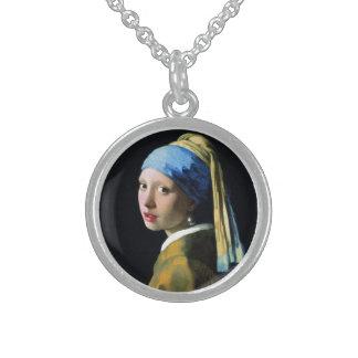 Mädchen Jan.s Vermeer mit einer Sterling Silberkette