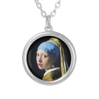 Mädchen Jan.s Vermeer mit einer Versilberte Kette