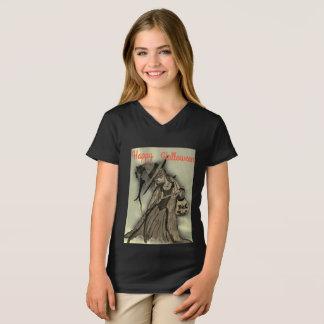 Mädchen Jerseyschwarzes T-Shirt