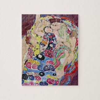 Mädchen (Jungfrau), Gustav Klimt, Vintage Kunst Puzzle